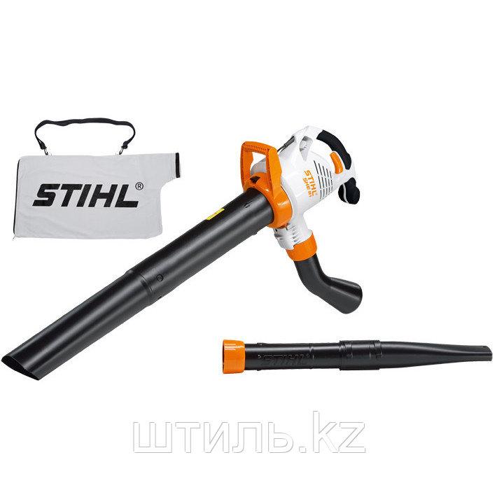 Всасывающий измельчитель STIHL SHE 81 (1,4 кВт | 650 м3/ч) электрический садовый пылесос и воздуходувка
