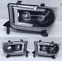 Передние фары черные LED Toyota Tundra 2007-13 Black Design