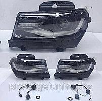 Передние фары на Chevrolet Camaro 2014-18 Black LED