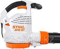 Всасывающий измельчитель STIHL SHE 81 (1,4 кВт | 650 м3/ч) электрический садовый, фото 4