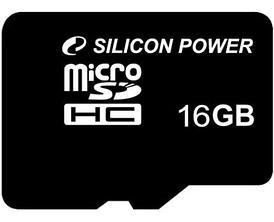 Карта памяти microSD Silicon Power 16 GB (class 10)