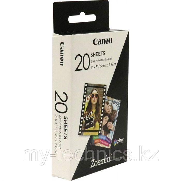 Бумага Zink Paper ZP-2030 для фотоаппаратов и принтеров Canon  Zoemini (20 листов)