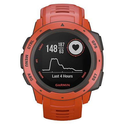 Смарт-часы Garmin Instinct Flame Red, фото 2
