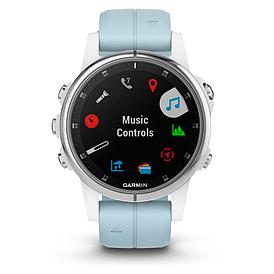 Смарт-часы Garmin Fenix 5S Plus белый/голубой