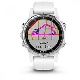 Смарт-часы Garmin Fenix 5S Plus Sapphire белый