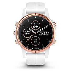 Смарт-часы Garmin Fenix 5S Plus Sapphire белый/золотой