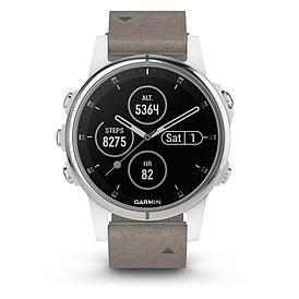 Смарт-часы Garmin Fenix 5S Plus Sapphire белый/серый