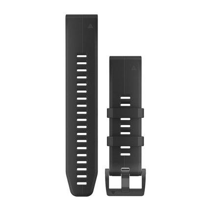 Ремешок для GPS часов Garmin Fenix 5/6 силикон черный, фото 2