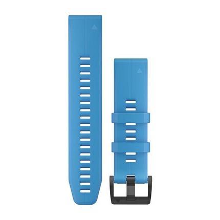 Ремешок для GPS часов Garmin Fenix 5/6 силикон синий, фото 2