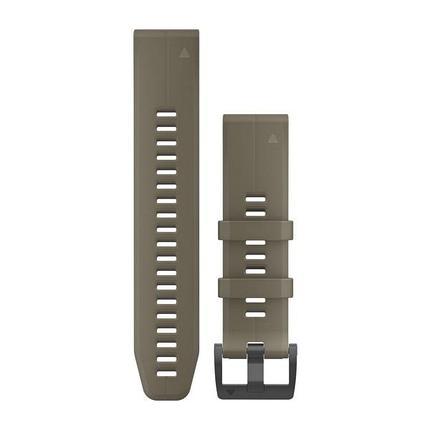 Ремешок для GPS часов Garmin Fenix 5/6 силикон темно-оливковый, фото 2