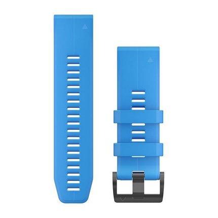 Ремешок для GPS часов Garmin Fenix 5X/6X силикон синий, фото 2