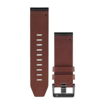 Ремешок для GPS часов Garmin Fenix 5X/6X кожа коричневый, фото 2