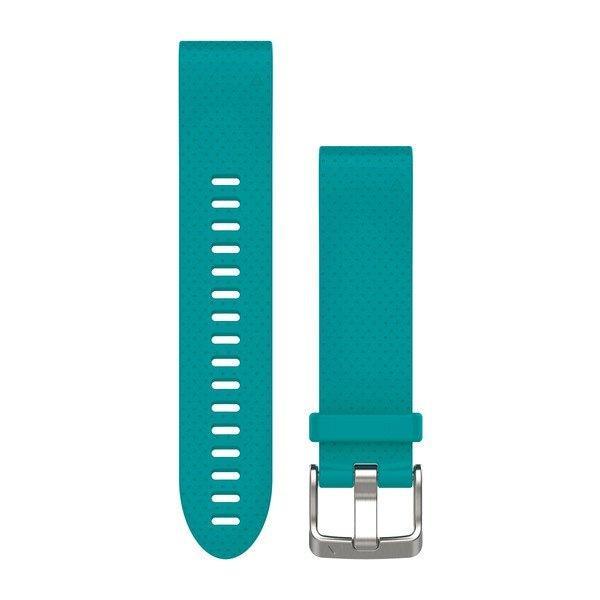 Ремешок для GPS часов Garmin Fenix 5S/6S силикон бирюза