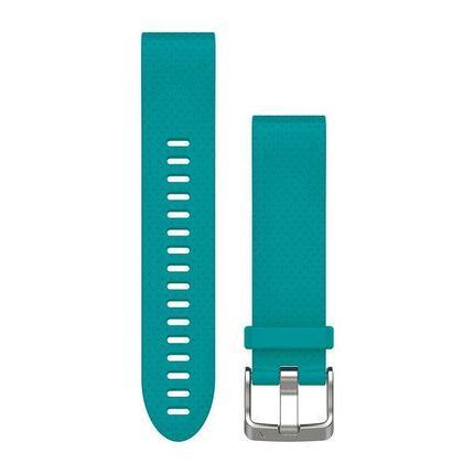 Ремешок для GPS часов Garmin Fenix 5S/6S силикон бирюза, фото 2