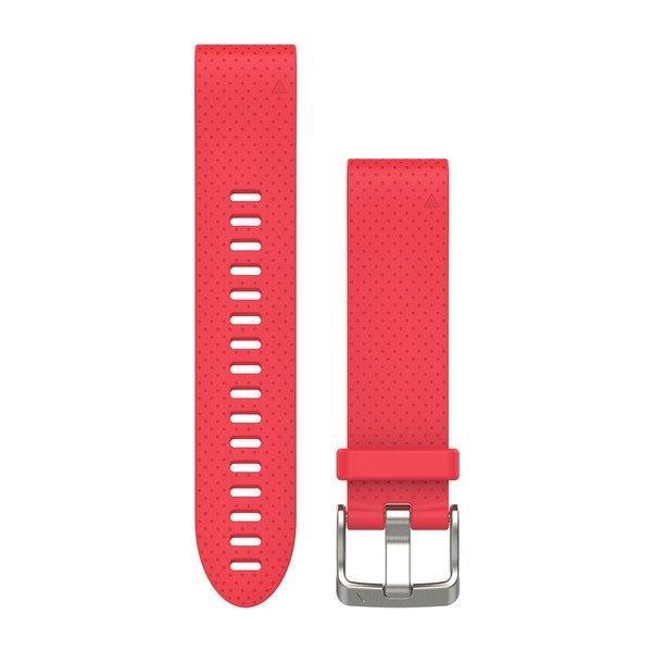 Ремешок для GPS часов Garmin Fenix 5S/6S силикон красный