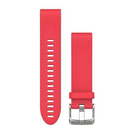 Ремешок для GPS часов Garmin Fenix 5S/6S силикон красный, фото 2