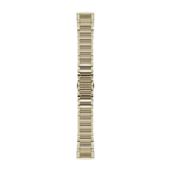 Ремешок для GPS часов Garmin Fenix 5S/6S сталь золото