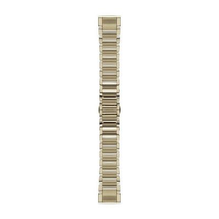 Ремешок для GPS часов Garmin Fenix 5S/6S сталь золото, фото 2