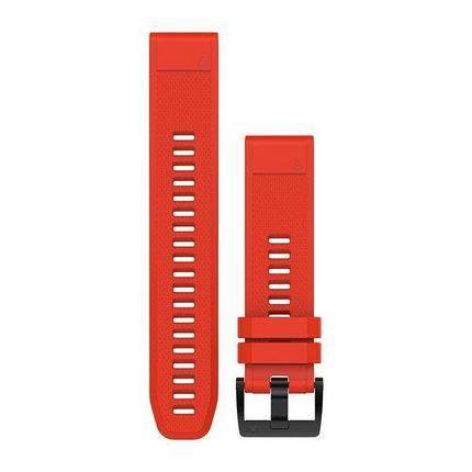 Ремешок для GPS часов Garmin Fenix 5/6 силикон красный, фото 2