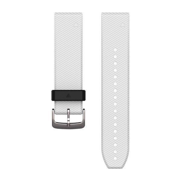 Ремешок для GPS часов Garmin Fenix 5/6 силикон белый