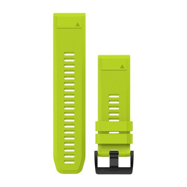 Ремешок для GPS часов Garmin Fenix 5X/6X силикон салатовый
