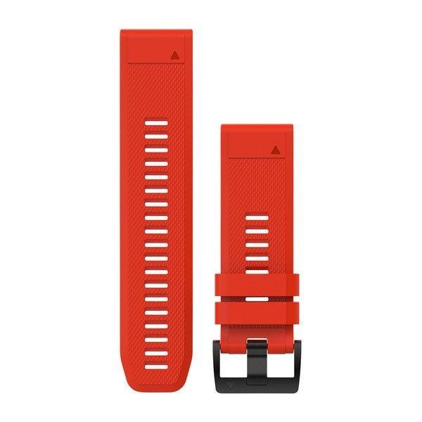 Ремешок для GPS часов Garmin Fenix 5X/6X силикон красный