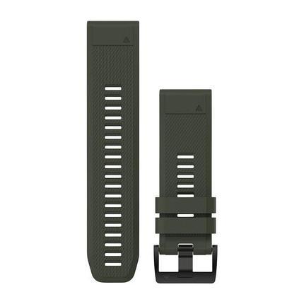 Ремешок для GPS часов Garmin Fenix 5X/6X силикон темно-зеленый, фото 2
