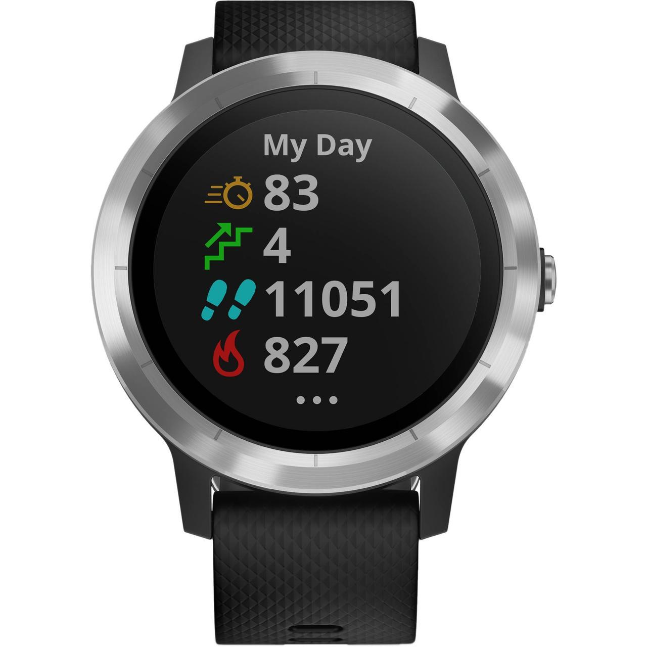 Смарт-часы Garmin Vivoactive 3 черный/серебряный