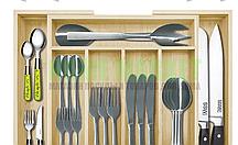 Лоток деревянный для вилок, ложек, ножей 29-40*33,5 см.