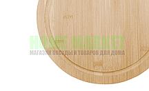 Доска разделочная - круглая (бамбук) d 25*1см.