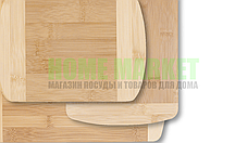 Доска разделочная (бамбук) 34*29*1,4 см.