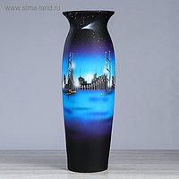 """Ваза напольная """"Луиза"""", город, синий цвет, 69 см, керамика"""