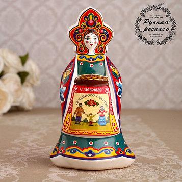 """Сувенир кукла """"С караваем"""", 12 см, керамика"""