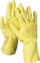 Перчатки DEXX латексные, х/б напыление, рифлёные, M