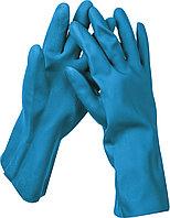 Перчатки латексные с неопреновым покрытием, хозяйственно-бытовые, стойкие к кислотам и щелочам, размер L