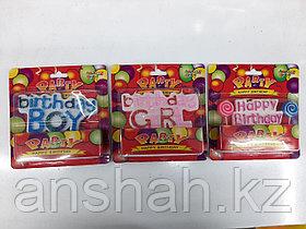 Свечи буквы с днем рождения   Девочка   (Розовый Цвет)