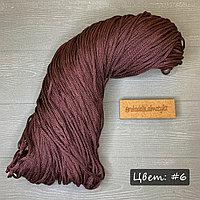 Полиэфирный шнур без сердечника, 3мм, пасма красно-корич
