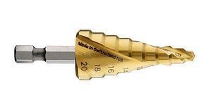 Ступенчатое сверло с шестигранным хвостовиком Bosch HSS-TiN 4-20 мм