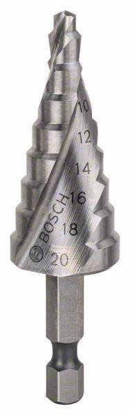 Ступенчатое сверло с шестигранным хвостовиком Bosch HSS 4-20 мм