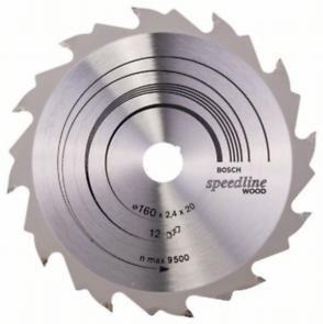 Пильный диск Bosch Speedline Wood 160 x 20, Z12