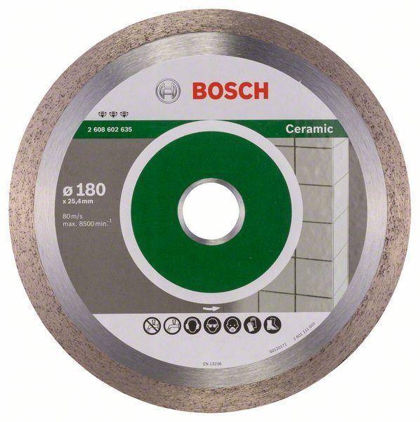 Алмазный отрезной круг по керамике Bosch Best for Ceramic 180x25.4x2.2x10 мм