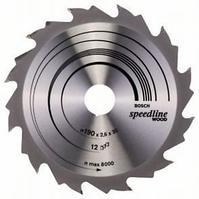 Пильный диск Bosch Speedline Wood 190 x 30, Z12