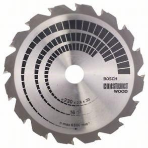 Пильный диск Bosch Construct Wood 230х30, Z16