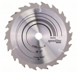 Пильный диск Bosch Speedline Wood 160 x 16, Z18
