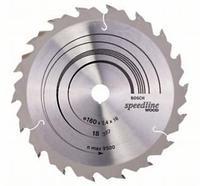 Пильный диск Bosch Speedline Wood 160 x 16, Z18, фото 1