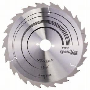 Пильный диск Bosch Speedline Wood 230 x 30, Z18
