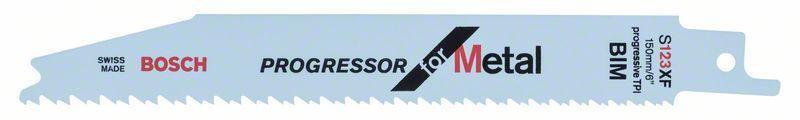 Сабельное полотно по металлу Bosch Progressor for Metal S 123 XF, 5 шт