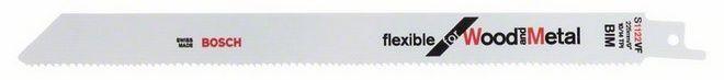 Сабельное полотно по дереву c металлом Bosch Flexible for Wood and Metal S 1122 VF, 5 шт