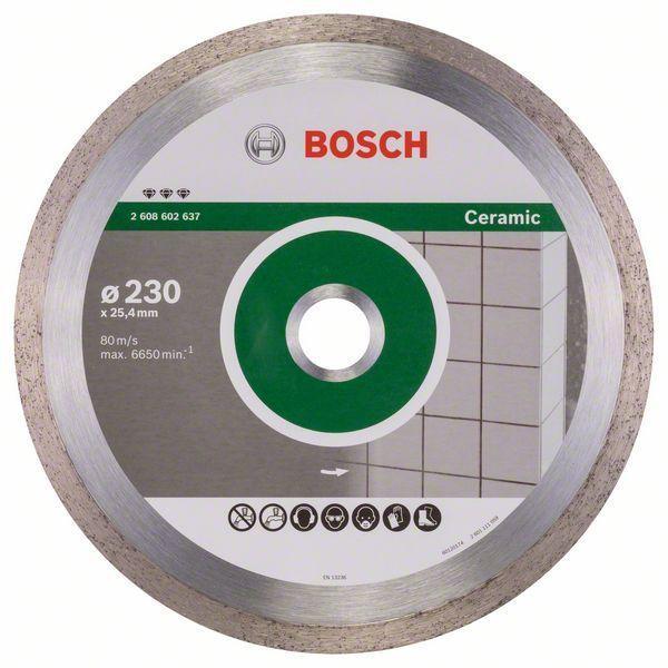 Алмазный отрезной круг по керамике Bosch Best for Ceramic 230x25.4x2.4x10 мм
