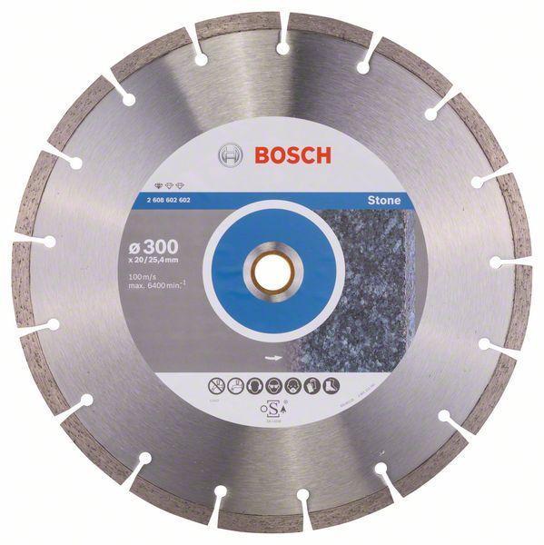 Алмазный отрезной круг по камню Bosch Standard for Stone 300x20/25.4x3.1x10 мм